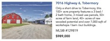 100+ acre property features a 3 bed/2 bath home for sale