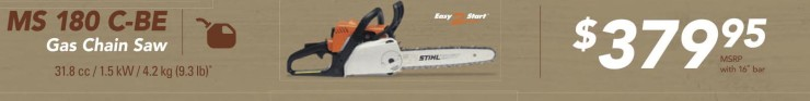 Ms 180 C-be Gas Chain Saw