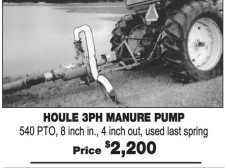 HOULE 3PH MANURE PUMP